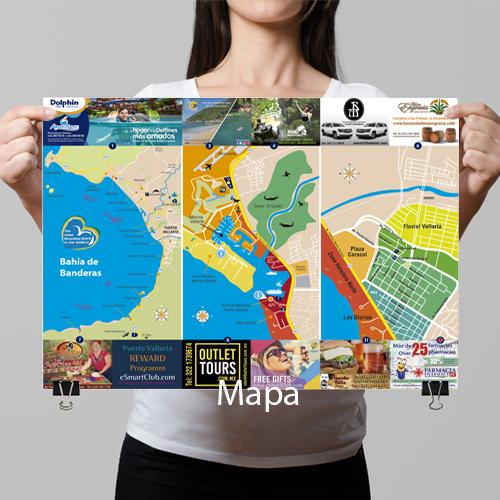 Diseño mapa para hotel o negocio