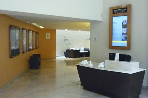 Westin Medios pantalla lobby