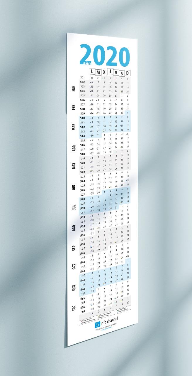 calendario 2020 info channel 2