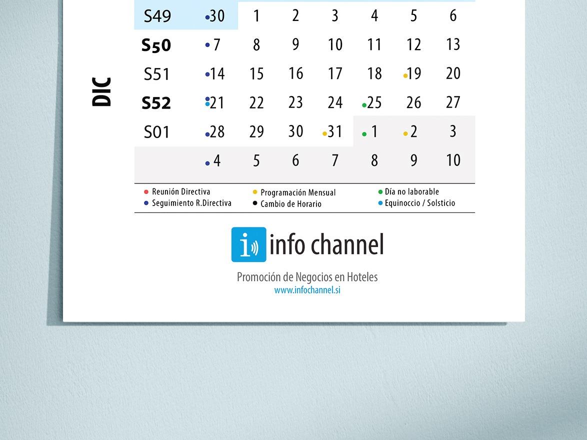 calendario 2020 info channel frente