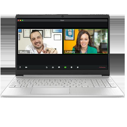 laptop zoom consultoria privada info channel
