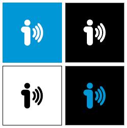 4 logos con 4 fondos