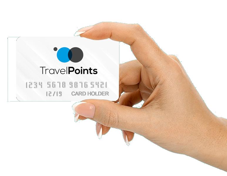 Travel Points mano mujer tarjeta