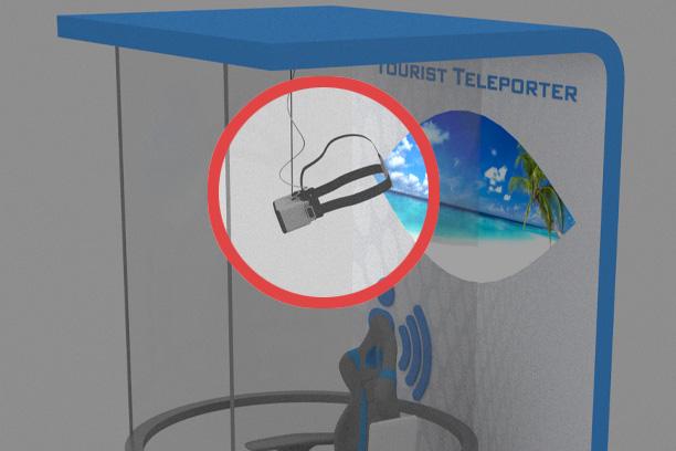 Teletransportador turistico de info channel visor asegurado